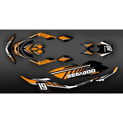 photo du kit décoration - Kit décoration Full Spark Orange pour Seadoo Spark - ENZO