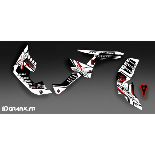 Kit décoration 100% Perso Monster Full (Blanc/Rouge)- IDgrafix - Can Am Renegade