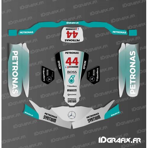 photo du kit décoration - Kit déco F1-series Mercedes pour Karting SodiKart (PC + Réservoir)