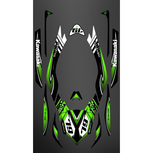 photo du kit décoration - Kit décoration 100% Perso Monster LTD Full pour Kawasaki Ultra 300/310R