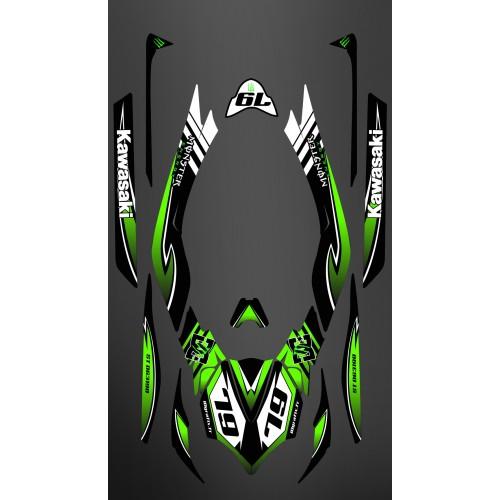 photo du kit décoration - Kit décoration 100% Perso Monster LTD Full pour Kawasaki Ultra 300/310R