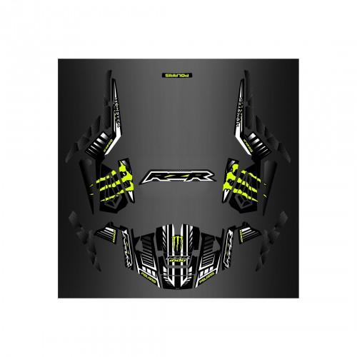 Kit décoration 100% Perso Monster Vert /Carbon - IDgrafix - Polaris RZR 1000 TURBO
