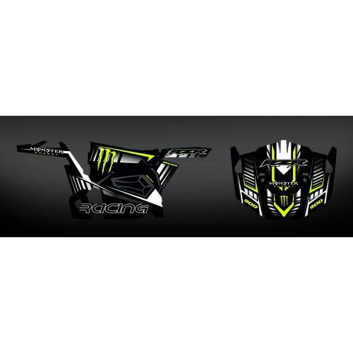 foto do kit, Kit de decoração de decoração 100% personalizado Monstro de Carbono - IDgrafix - Polaris RZR 900