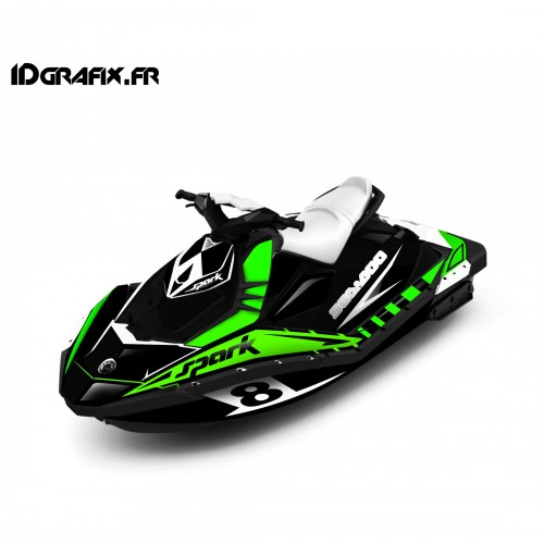 photo du kit décoration - Kit décoration Full Spark Limited Vert pour Seadoo Spark