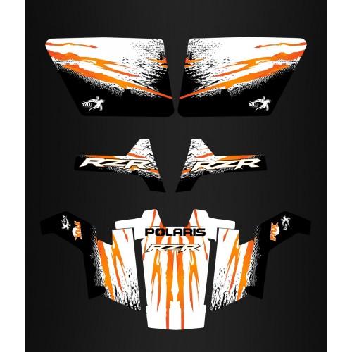 foto del kit, Kit de decoración de la decoración de la Réplica de Naranja - IDgrafix - Polaris RZR 800 / 800