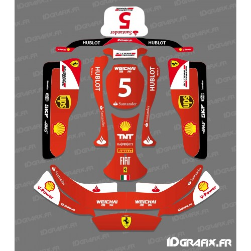 photo du kit décoration - Kit déco F1-series Scuderia pour Karting CRG Rotax 125