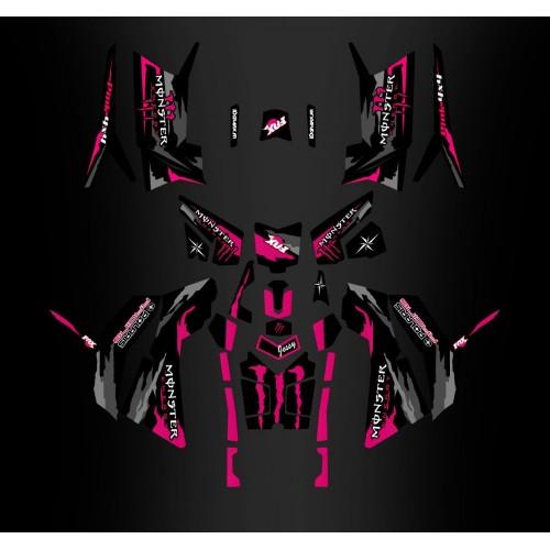 foto do kit, Kit de decoração de decoração Monstro-de-Rosa Edition (Completo) - IDgrafix - Polaris 850/1000 Scrambler