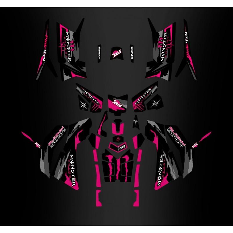 photo du kit décoration - Kit décoration Monster Rose Edition (Full) - IDgrafix - Polaris 850/1000 Scrambler