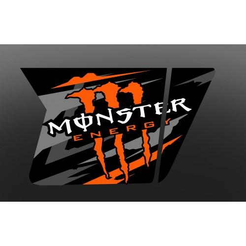 photo du kit décoration - Kit décoration Monster Porte XRW Suicide - IDgrafix - Polaris RZR 800/800S