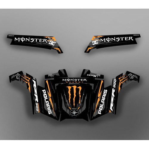 Kit décoration Monster Race Edition (Orange) - IDgrafix - Polaris RZR 900 XP