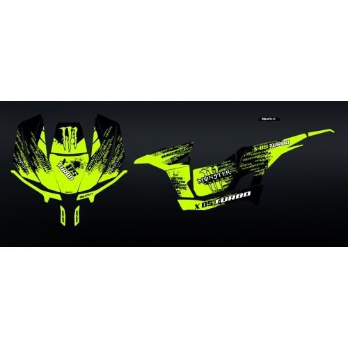 foto gráfico kit - Kit décoration Snake Jaune - Idgrafix - Can Am 1000 Maverick