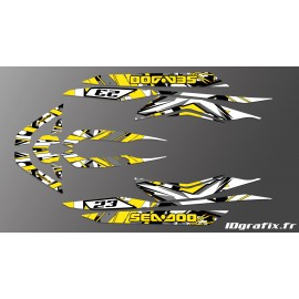 Kit décoration X Team Yellow pour Seadoo RXT 260 / 300 (coque S3)