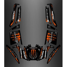 Kit décoration 100% Perso Monster Orange Edition - IDgrafix - Polaris RZR 900 XP