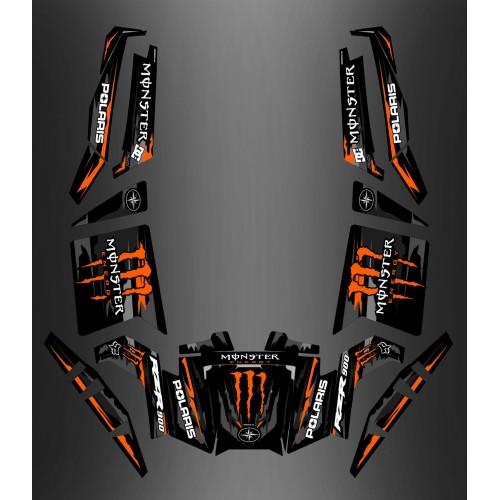 photo du kit décoration - Kit décoration 100% Perso Monster Orange Edition - IDgrafix - Polaris RZR 900 XP
