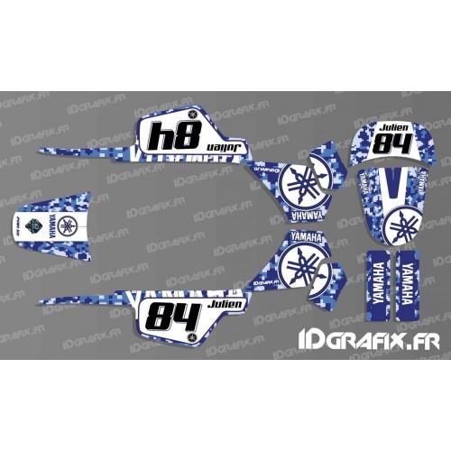 photo du kit décoration - Kit décoration Digital Bleu Full - IDgrafix - Yamaha 50 Piwi