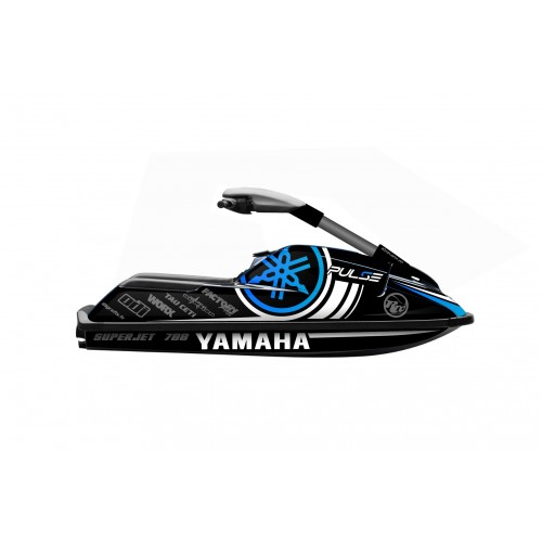 photo du kit décoration - Kit décoration Pulse BLUE pour Yamaha Superjet 700