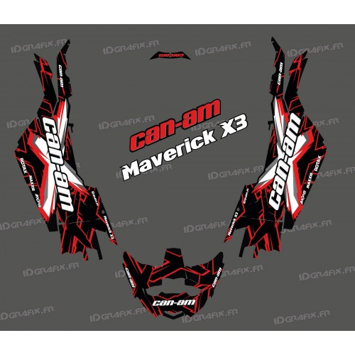 photo du kit décoration - Kit décoration XTeam Series Rouge - Idgrafix - Can Am Maverick X3