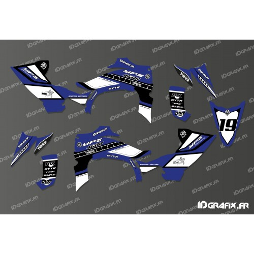 photo du kit décoration - Kit décoration 60eme Yamaha Full (Bleu) - IDgrafix - Yamaha YFZ 450 R