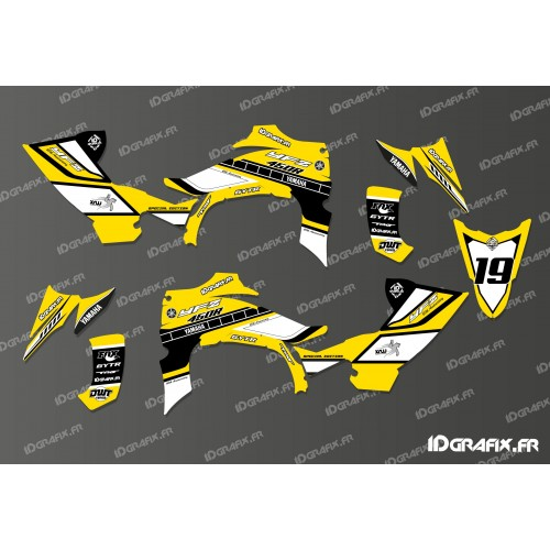 Kit deco 100 custom star full yellow idgrafix for Deco 700 raptor
