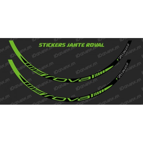 photo of the kit decoration - Lot 2 Stickers Rim Roval (Green)