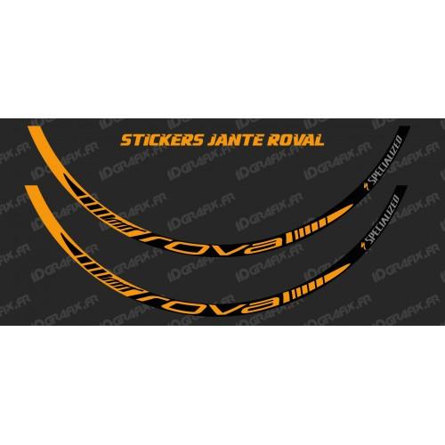photo of the kit decoration - Lot 2 Stickers Rim Roval (Orange)