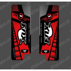 Stickers Protection Fourche Fox Edition (Rouge) - Specialized Turbo Levo