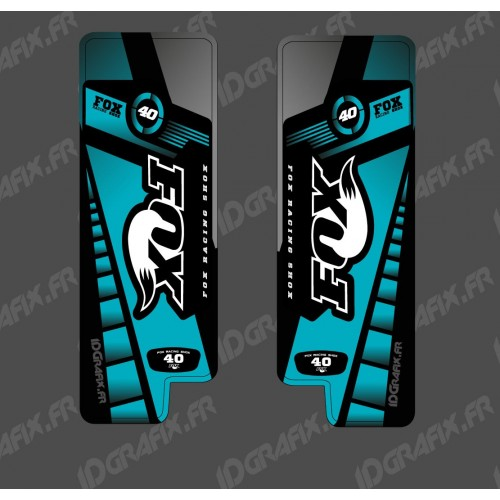 photo du kit décoration - Stickers Protection Fourche Fox Edition (Bleu) - Specialized Turbo Levo