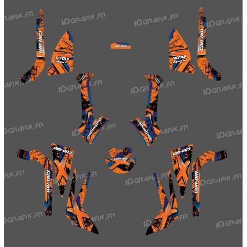 foto-kit deko - Kit dekoration Brush Series (Orange), Medium - IDgrafix - Can-Am Outlander G2 - ()
