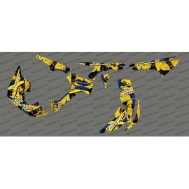 Kit décoration Brush Series Full (Jaune)- IDgrafix - Can Am Renegade