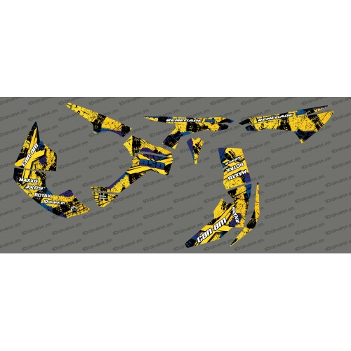 photo du kit décoration - Kit décoration Brush Series Full (Jaune)- IDgrafix - Can Am Renegade