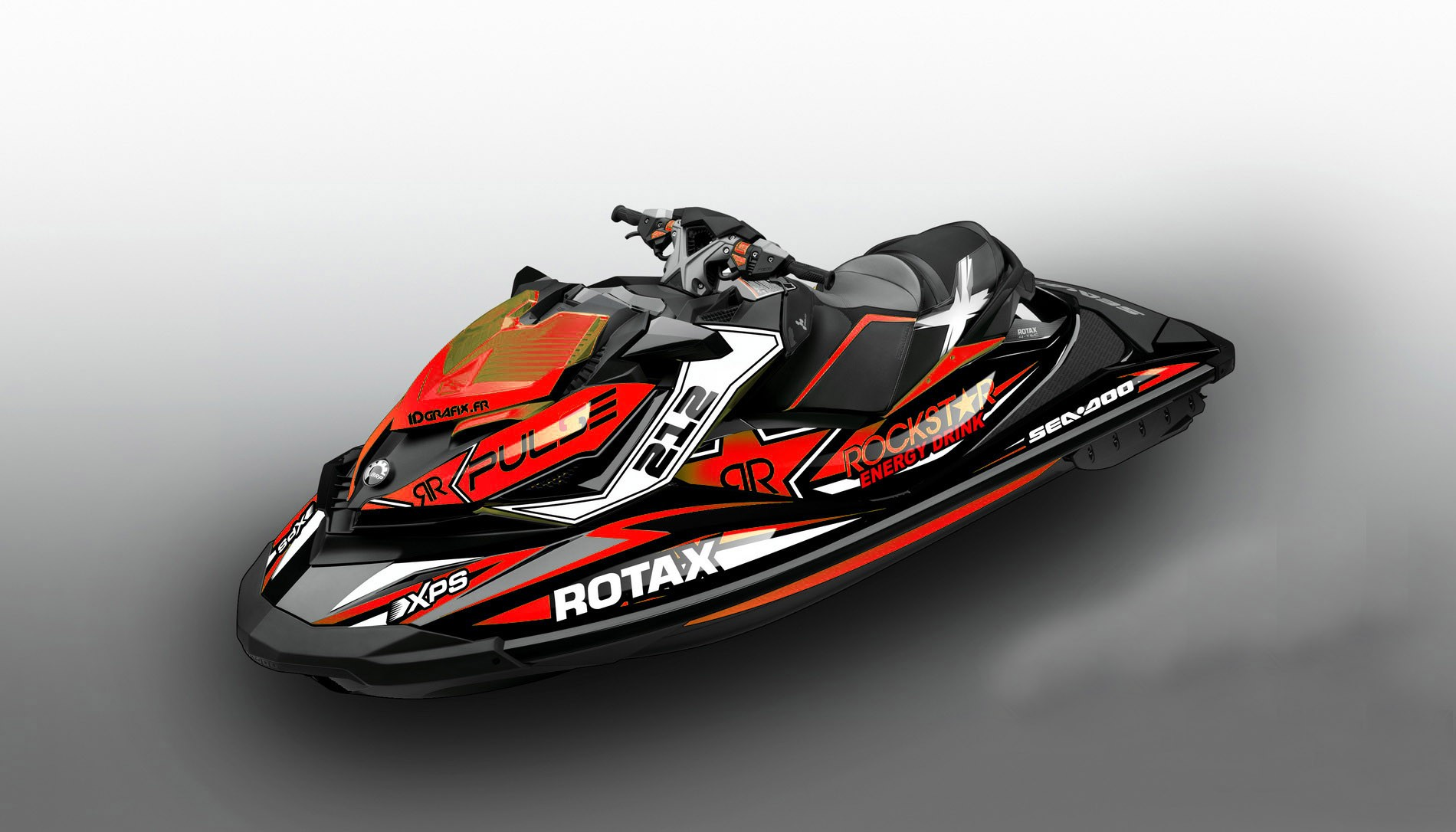 Polaris Outlaw 50 >> Kit decoration Rock Red for Seadoo RXP-X 260 / 300