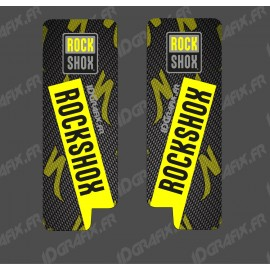 Stickers Protection Fourche RockShox Carbon (Jaune Fluo) - Specialized Turbo Levo