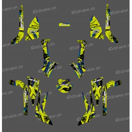 Kit décoration Brush Series (Jaune Vert) Medium - IDgrafix - Can Am Outlander (G2)