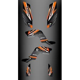 Kit décoration Factory Edition Orange - IDgrafix - Yamaha 700 Raptor