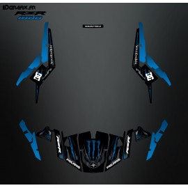 Kit décoration 100% Perso Monster Bleu - IDgrafix - Polaris RZR 1000
