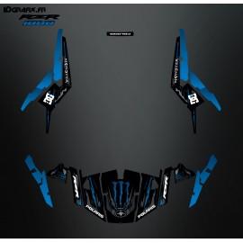 Kit décoration 100% Perso Monster Bleu - IDgrafix - Polaris RZR 1000