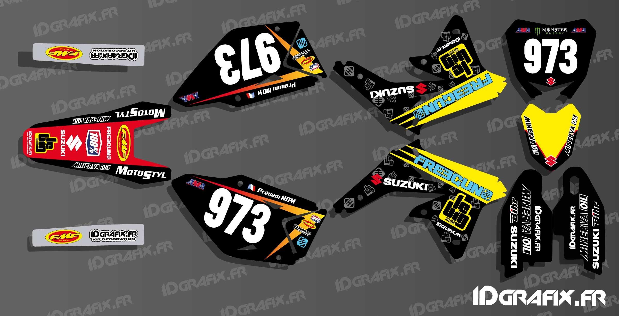 kit deco us freegun series for suzuki rm rmz idgrafix
