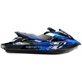 Kit deco 100% perso Monster (bleu) - Yamaha FX (après 2012)