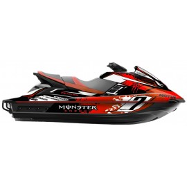 Kit deco 100% perso Monster (rouge) - Yamaha FX (après 2012)