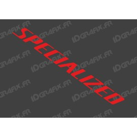 Sticker Specialized 52x5.2 cm (Rouge)