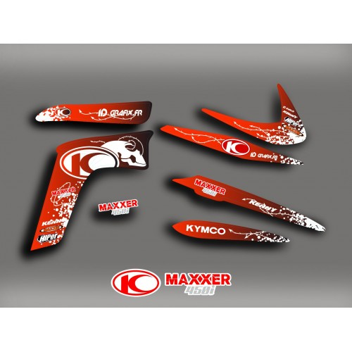 photo of the kit decoration - Kit-Deco-Skull - Red Kymco 450 Maxxer