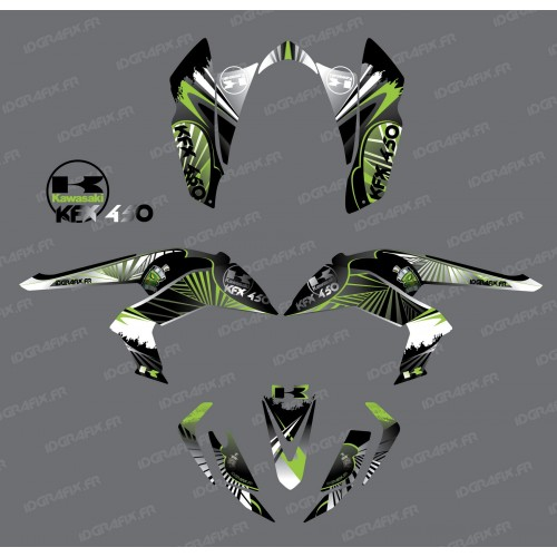 photo du kit décoration - Kit décoration Reptile Vert - IDgrafix - Kawasaki KFX 450R