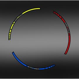 Kit Stickers Liserets de 2 jantes - IDgrafix - KTM EXC