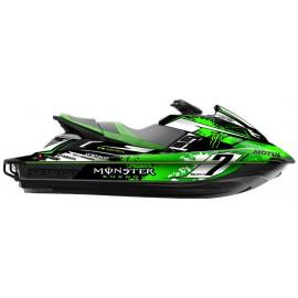 Kit deco 100% perso Monster (Vert) - Yamaha FX (après 2012)