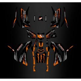 Kit de décoration Monstruo Naranja Edition (Full) - IDgrafix - Polaris 850/1000 Scrambler