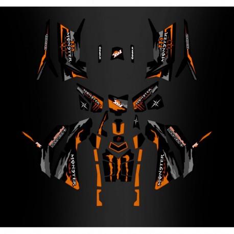 Kit décoration Monster Orange Edition (Full) - IDgrafix - Polaris 850/1000 Scrambler