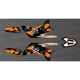 Kit décoration 100% perso Orange (partiel) - IDgrafix - Suzuki LTR 450 - DIOGO