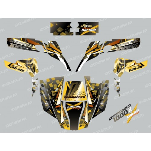 photo du kit décoration - Kit décoration Cross Jaune - IDgrafix - Can Am 1000 Commander