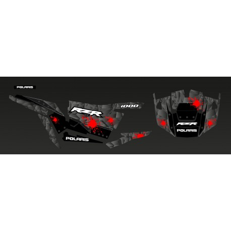 Kit décoration Steel Edition (Gris/Rouge)- IDgrafix - Polaris RZR 1000 XP