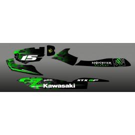 Kit décoration Digital Edition Vert pour Kawasaki STX 15F